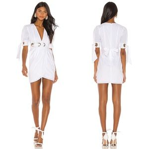 Alice McCall Everything Mini Dress In Porcelain